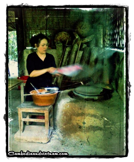 Making Rice Paper - Cu Chi