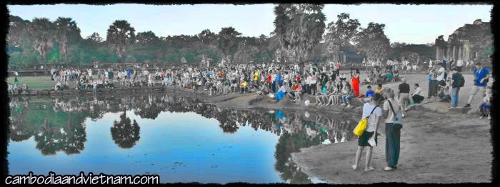 Photographing Angkor Sunrise