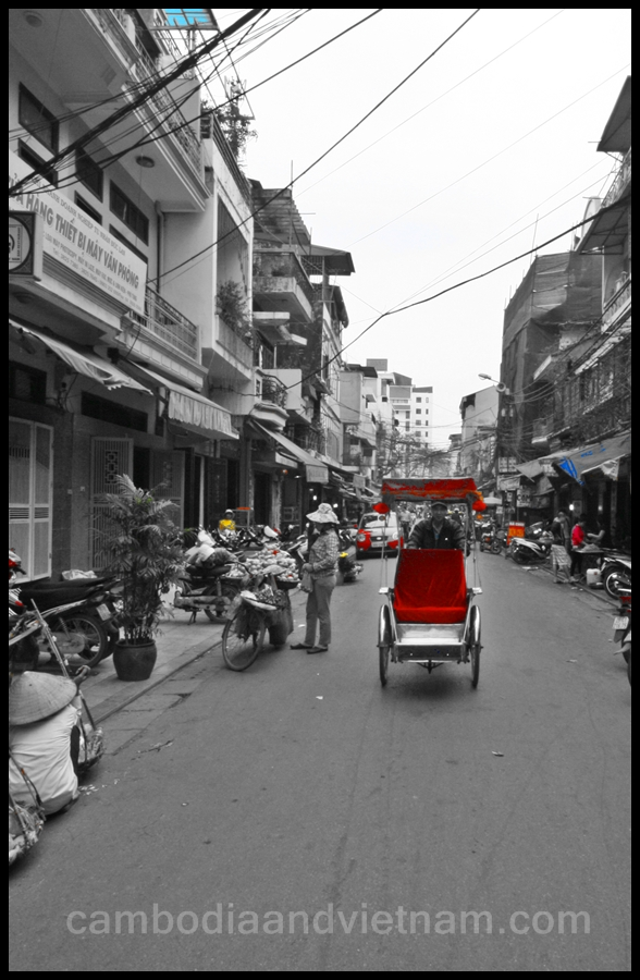 Red Cyclo - Hanoi
