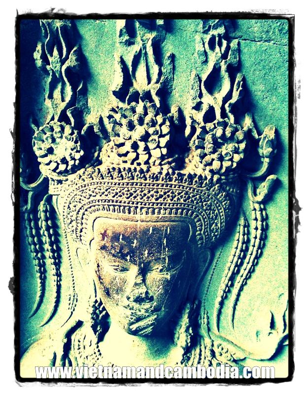 Angkor Carvings - Cambodia
